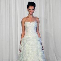 Wedding Dresses, Ball Gown Wedding Dresses, Ruffled Wedding Dresses, Fashion, ivory, Strapless, Strapless Wedding Dresses, Beading, Floor, Formal, Organza, Natural, Ballroom, Ruffles, Tiers, Museum, Ball gown, modern space, Kelly Faetanini, Beaded Wedding Dresses, organza wedding dresses, Formal Wedding Dresses, Floor Wedding Dresses, Tiered Wedding Dresses