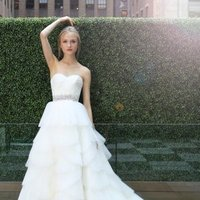 Wedding Dresses, Sweetheart Wedding Dresses, Ball Gown Wedding Dresses, Fashion, ivory, Modern, Sweetheart, Strapless, Strapless Wedding Dresses, Beading, Floor, Organza, Natural, Ballroom, Tiers, Pleats, Ruching, Ball gown, Sash/Belt, Modern Wedding Dresses, Kelly Faetanini, Beaded Wedding Dresses, organza wedding dresses, Floor Wedding Dresses, Sash Wedding Dresses, Belt Wedding Dresses, Tiered Wedding Dresses