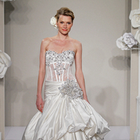 Wedding Dresses, Sweetheart Wedding Dresses, Ball Gown Wedding Dresses, Ruffled Wedding Dresses, Romantic Wedding Dresses, Hollywood Glam Wedding Dresses, Fashion, white, ivory, Shabby Chic, Romantic, Sweetheart, Beading, Satin, Floor, Silk, Ruffles, Hip, Dropped, Sleeveless, Pnina tornai, Ball gown, Kleinfeld, Avant-Garde, hollywood glam, Beaded Wedding Dresses, satin wedding dresses, Silk Wedding Dresses, Floor Wedding Dresses, Hip Wedding Dresses, Shabby Chic Wedding Dresses
