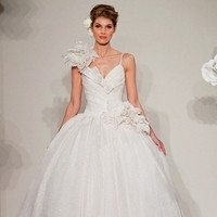Wedding Dresses, Ball Gown Wedding Dresses, Romantic Wedding Dresses, Hollywood Glam Wedding Dresses, Fashion, white, ivory, Flowers, Shabby Chic, Romantic, Spaghetti straps, Floor, Formal, Natural, Silk, Hip, Sleeveless, Pnina tornai, Ball gown, hollywood glam, Flower Wedding Dresses, Spahetti Strap Wedding Dresses, Formal Wedding Dresses, Silk Wedding Dresses, Floor Wedding Dresses, Hip Wedding Dresses, Shabby Chic Wedding Dresses