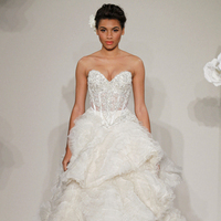 Wedding Dresses, Sweetheart Wedding Dresses, Ball Gown Wedding Dresses, Ruffled Wedding Dresses, Lace Wedding Dresses, Hollywood Glam Wedding Dresses, Fashion, white, ivory, Shabby Chic, Lace, Sweetheart, Beading, Empire, Floor, Formal, Ruffles, Tiers, Sleeveless, Pnina tornai, Ball gown, hollywood glam, Beaded Wedding Dresses, Formal Wedding Dresses, Floor Wedding Dresses, Shabby Chic Wedding Dresses, Tiered Wedding Dresses