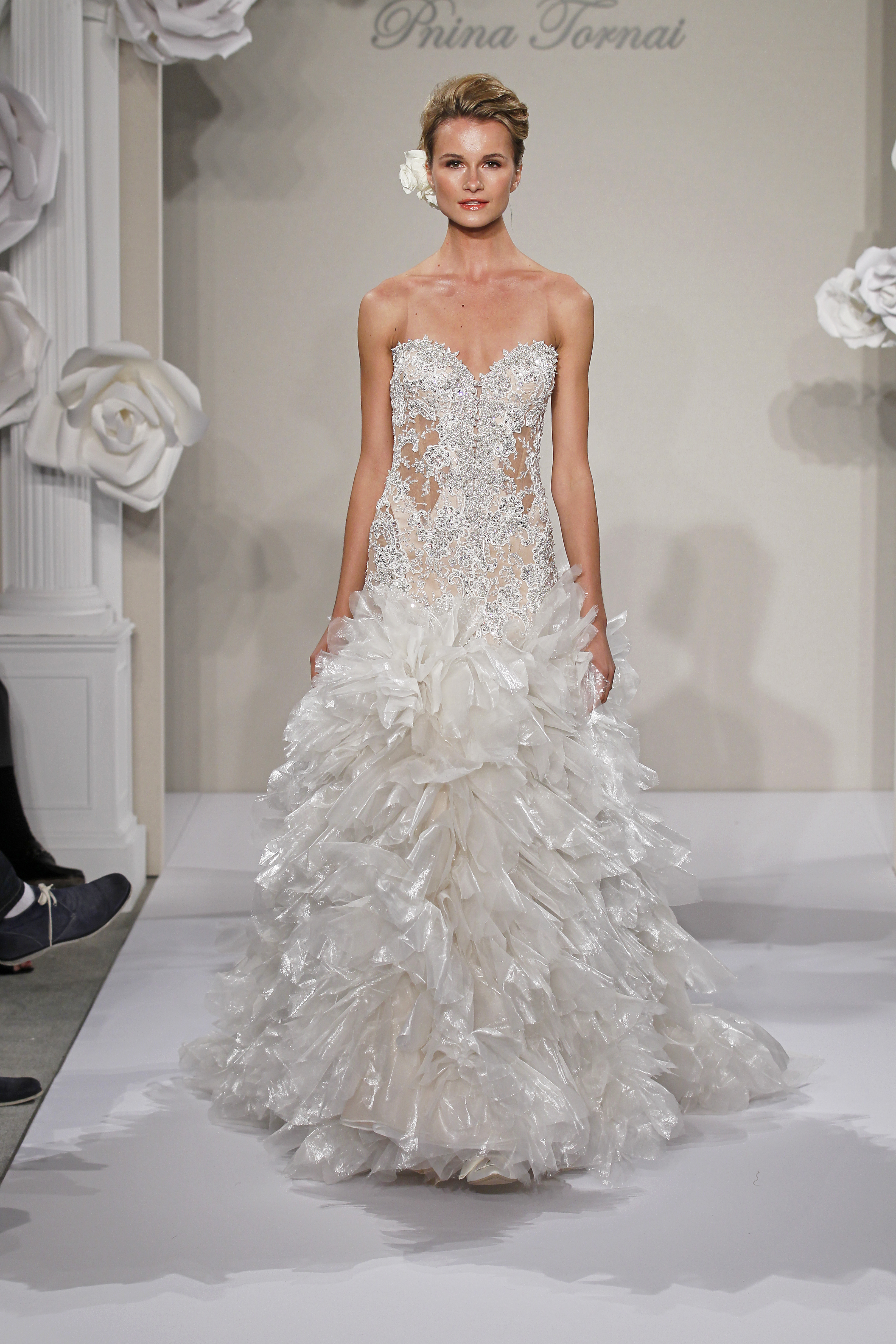 Wedding Dresses, Sweetheart Wedding Dresses, A-line Wedding Dresses, Ball Gown Wedding Dresses, Ruffled Wedding Dresses, Romantic Wedding Dresses, Hollywood Glam Wedding Dresses, Fashion, white, ivory, Shabby Chic, Romantic, Sweetheart, A-line, Beading, Floor, Formal, Natural, Silk, Ruffles, Sleeveless, Pnina tornai, Ball gown, Avant-Garde, hollywood glam, Beaded Wedding Dresses, Formal Wedding Dresses, Silk Wedding Dresses, Floor Wedding Dresses, Shabby Chic Wedding Dresses