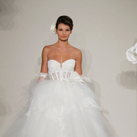 Wedding Dresses, Sweetheart Wedding Dresses, Ball Gown Wedding Dresses, Ruffled Wedding Dresses, Hollywood Glam Wedding Dresses, Fashion, white, ivory, Shabby Chic, Sweetheart, Empire, Tulle, Floor, Formal, Ruffles, Hip, Sleeveless, Pnina tornai, Ball gown, hollywood glam, tulle wedding dresses, Formal Wedding Dresses, Floor Wedding Dresses, Hip Wedding Dresses, Shabby Chic Wedding Dresses