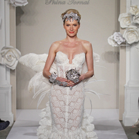 Wedding Dresses, Sweetheart Wedding Dresses, A-line Wedding Dresses, Mermaid Wedding Dresses, Ruffled Wedding Dresses, Lace Wedding Dresses, Hollywood Glam Wedding Dresses, Fashion, white, ivory, Lace, Sweetheart, A-line, Floor, Natural, Ruffles, Sleeveless, Pnina tornai, Avant-Garde, Fit-n-Flare, hollywood glam, Floor Wedding Dresses