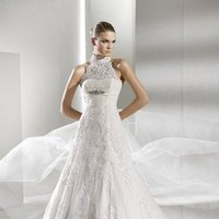 Wedding Dresses, A-line Wedding Dresses, Ball Gown Wedding Dresses, Lace Wedding Dresses, Romantic Wedding Dresses, Fashion, white, ivory, Modern, Romantic, Lace, A-line, Beading, Empire, Tulle, Floor, La sposa, Modest, Sleeveless, Ball gown, high-neck, Modern Wedding Dresses, Beaded Wedding Dresses, High Neck Wedding Dresses, tulle wedding dresses, Floor Wedding Dresses, Modest Wedding Dresses