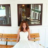 Wedding Dresses, Sweetheart Wedding Dresses, A-line Wedding Dresses, Ruffled Wedding Dresses, Fashion, white, Sweetheart, A-line, Silk, Ruffles, Tea-length, Sleeveless, lea ann belter, inverted basque, Silk Wedding Dresses