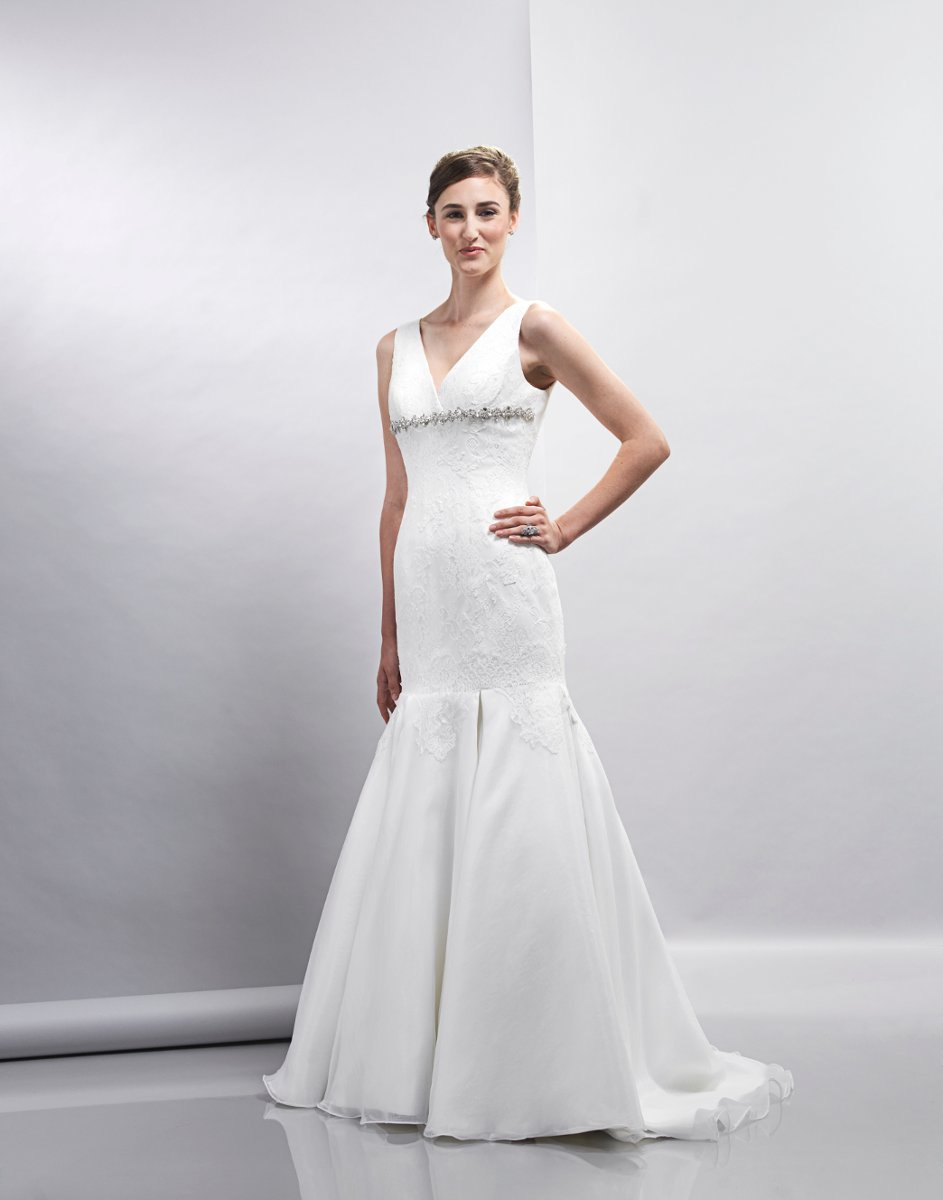Wedding Dresses, A-line Wedding Dresses, Mermaid Wedding Dresses, Lace Wedding Dresses, Romantic Wedding Dresses, Fashion, white, ivory, Spring, Classic, Romantic, Lace, A-line, V-neck, V-neck Wedding Dresses, Floor, Formal, Organza, Dropped, Sleeveless, Lis simon, Fit-n-Flare, organza wedding dresses, Spring Wedding Dresses, Classic Wedding Dresses, Formal Wedding Dresses, Floor Wedding Dresses