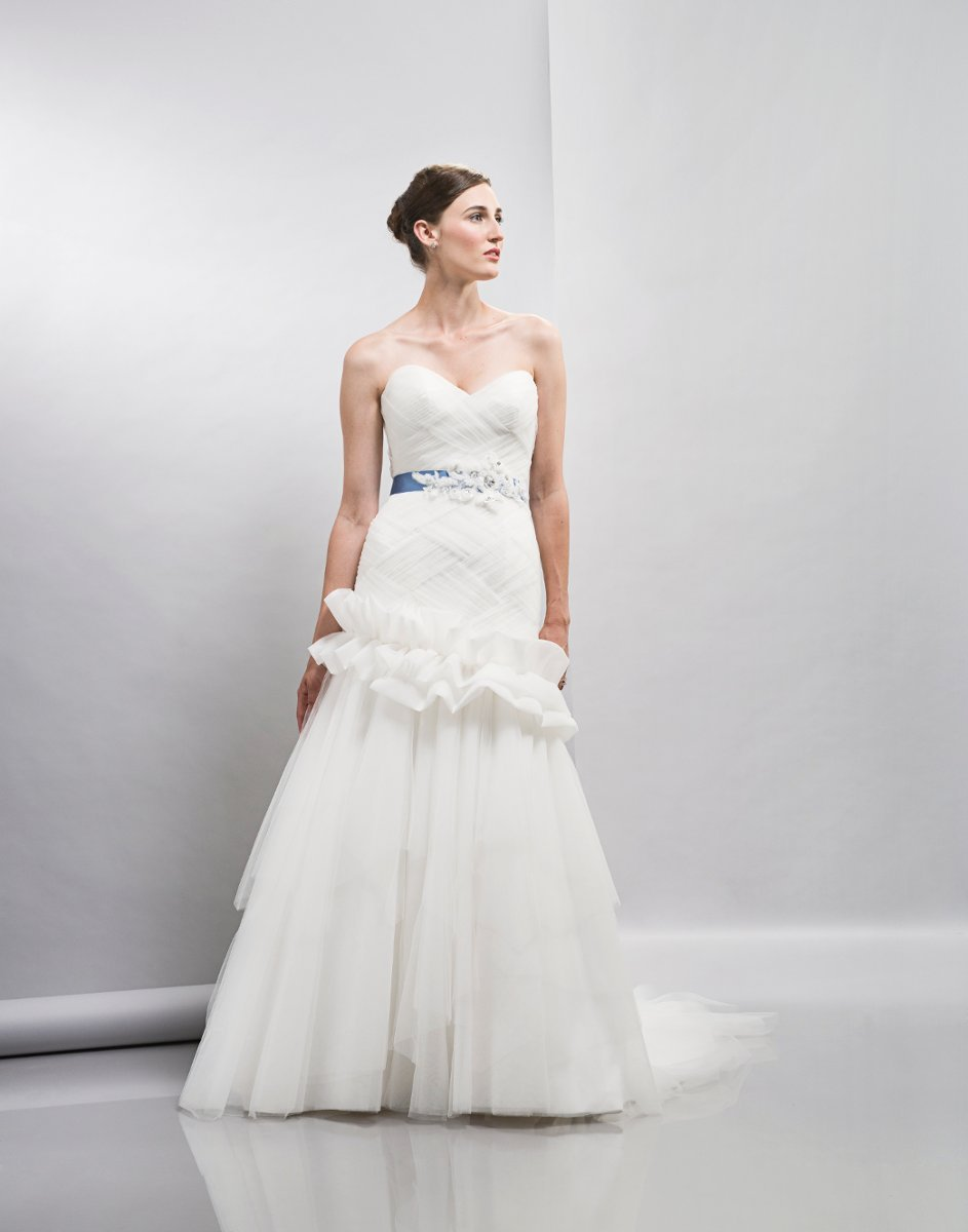Wedding Dresses, Sweetheart Wedding Dresses, Mermaid Wedding Dresses, Ruffled Wedding Dresses, Romantic Wedding Dresses, Fashion, white, ivory, Modern, Romantic, Sweetheart, Strapless, Strapless Wedding Dresses, Tulle, Floor, Formal, Ruffles, Tiers, Dropped, Sleeveless, Lis simon, Mermaid/Trumpet, Sash/Belt, Fit-n-Flare, Modern Wedding Dresses, trumpet wedding dresses, tulle wedding dresses, Formal Wedding Dresses, Floor Wedding Dresses, Sash Wedding Dresses, Belt Wedding Dresses, Tiered Wedding Dresses