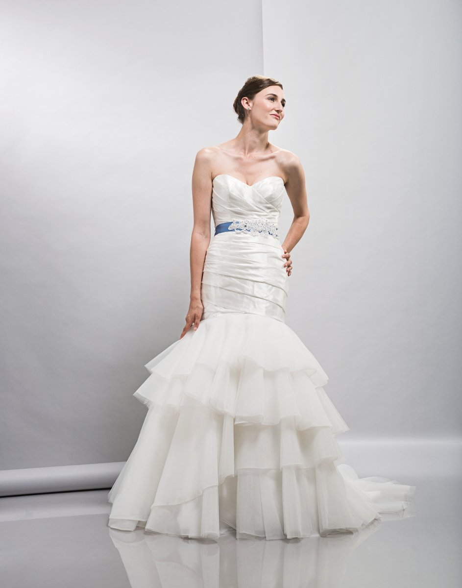Wedding Dresses, Sweetheart Wedding Dresses, Mermaid Wedding Dresses, Hollywood Glam Wedding Dresses, Fashion, white, ivory, Spring, Modern, Sweetheart, Strapless, Strapless Wedding Dresses, Tulle, Floor, Formal, Tiers, Dropped, Taffeta, Sleeveless, Lis simon, Mermaid/Trumpet, Sash/Belt, Fit-n-Flare, hollywood glam, Modern Wedding Dresses, taffeta wedding dresses, trumpet wedding dresses, Spring Wedding Dresses, tulle wedding dresses, Formal Wedding Dresses, Floor Wedding Dresses, Sash Wedding Dresses, Belt Wedding Dresses, Tiered Wedding Dresses