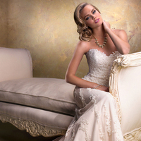 Wedding Dresses, Sweetheart Wedding Dresses, A-line Wedding Dresses, Fashion, Sweetheart, Strapless, Strapless Wedding Dresses, A-line, Tulle, Maggie Sottero, beaded lace, tulle wedding dresses
