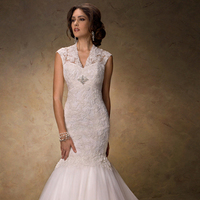 Wedding Dresses, Sweetheart Wedding Dresses, Fashion, Sweetheart, Cap sleeves, Fit and flare, Tulle, Maggie Sottero, crystal brooch, illusion v-neck, tulle wedding dresses