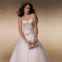Wedding Dresses, Sweetheart Wedding Dresses, Ball Gown Wedding Dresses, Fashion, Sweetheart, Strapless, Strapless Wedding Dresses, Maggie Sottero, Organza, Ball gown, Beaded bodice, organza wedding dresses