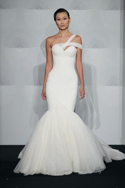 Wedding Dresses, Sweetheart Wedding Dresses, Fashion, Sweetheart, Silk chiffon, Mark zunino, chapel train, dropped waist, asymmetric neckline