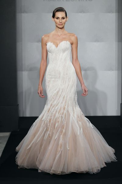Wedding Dresses, Sweetheart Wedding Dresses, Fashion, Mermaid, Sweetheart, Strapless, Strapless Wedding Dresses, Mark zunino, chapel train, silk organza, two-tone