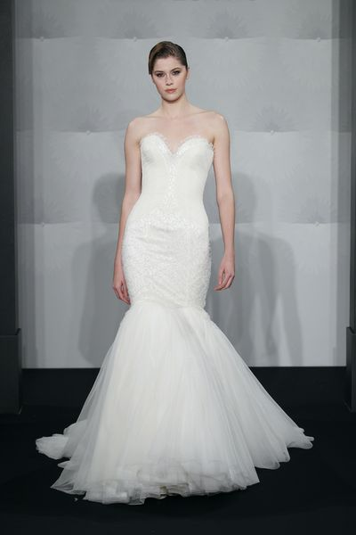 Wedding Dresses, Sweetheart Wedding Dresses, Fashion, Mermaid, Sweetheart, Strapless, Strapless Wedding Dresses, Silk chiffon, Mark zunino, chapel train, dropped waist, beaded embroidery