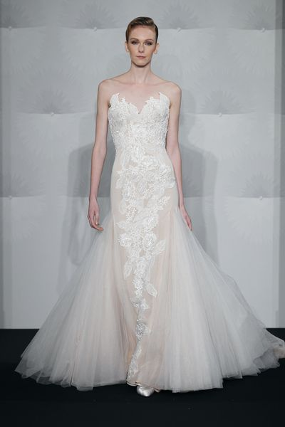 Wedding Dresses, Sweetheart Wedding Dresses, Lace Wedding Dresses, Fashion, Mermaid, Lace, Sweetheart, Strapless, Strapless Wedding Dresses, Embroidery, Silk chiffon, Mark zunino