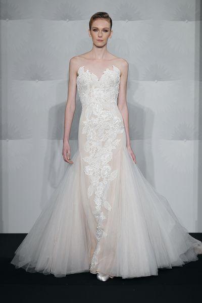 Wedding Dresses, Sweetheart Wedding Dresses, Lace Wedding Dresses, Fashion, Mermaid, Lace, Sweetheart, Strapless, Strapless Wedding Dresses, Embroidery, Silk chiffon, Mark zunino