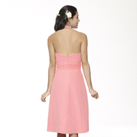 Bridesmaids Dresses, Fashion, pink, black, A-line, Halter, V-neck, Short, Chiffon, Ruching, Me Too! Bridesmaids