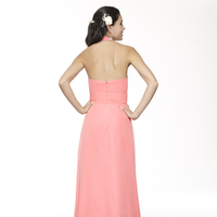 Bridesmaids Dresses, Fashion, pink, A-line, Halter, V-neck, Floor, Chiffon, Ruching, Me Too! Bridesmaids