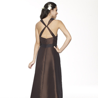 brown, Sweetheart, A-line, Spaghetti straps, V-neck, Floor, Taffeta, Sleeveless, Sash/Belt, Me Too! Bridesmaids