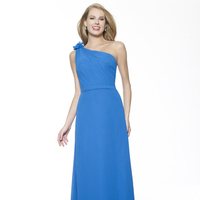 Bridesmaids Dresses, Fashion, blue, A-line, Floor, Chiffon, Ruching, One-shoulder, Sash/Belt, Me Too! Bridesmaids