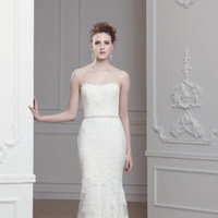 Wedding Dresses, A-line Wedding Dresses, Fashion, ivory, Strapless, Strapless Wedding Dresses, A-line, Beading, Natural waist, Sheath, Belt, Tulle, Sleeveless, Modeca, chapel train, floor length, lace appliques, Beaded Wedding Dresses, tulle wedding dresses, Sheath Wedding Dresses