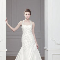 Wedding Dresses, A-line Wedding Dresses, Fashion, ivory, A-line, Beading, Halter, Natural waist, Taffeta, Sleeveless, Modeca, chapel train, floor length, halter wedding dresses, Beaded Wedding Dresses, taffeta wedding dresses