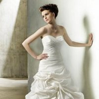 Wedding Dresses, Sweetheart Wedding Dresses, A-line Wedding Dresses, Ruffled Wedding Dresses, Fashion, Sweetheart, Strapless, Strapless Wedding Dresses, A-line, Glamorous, Formal, Ruffles, Dropped, Taffeta, Sleeveless, Modeca, chapel train, floor length, taffeta wedding dresses, Formal Wedding Dresses
