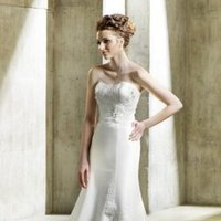 Wedding Dresses, Romantic Wedding Dresses, Fashion, Summer, Modern, Mermaid, Romantic, Natural waist, Scoop neck, Tulle, Chapel, Taffeta, Sleeveless, Modeca, floor length, Modern Wedding Dresses, taffeta wedding dresses, tulle wedding dresses, Summer Wedding Dresses