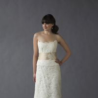 Wedding Dresses, Lace Wedding Dresses, Fashion, Train, Lace, Strapless, Strapless Wedding Dresses, Tiered, Glamour, Jane, Timeless, Caroline devillo, chapel train, drop waist, Nordstrom Wedding Suite, romatnic