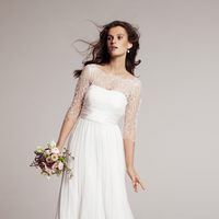 Wedding Dresses, A-line Wedding Dresses, Lace Wedding Dresses, Fashion, Lace, Strapless, Strapless Wedding Dresses, A-line, Sleeves, Jenny yoo, Sweep, floor length, ruched bodice, a-line skirt, Nordstrom Wedding Suite, Rowan, slight sweep