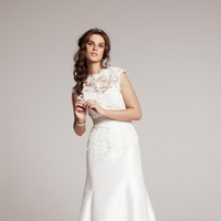 Wedding Dresses, Ball Gown Wedding Dresses, Lace Wedding Dresses, Fashion, Lace, Scoop neck, Pockets, Heidi elnora, Ball gown, lace jacket, Nordstrom Wedding Suite, raw silk, katie grace, strapless bodice