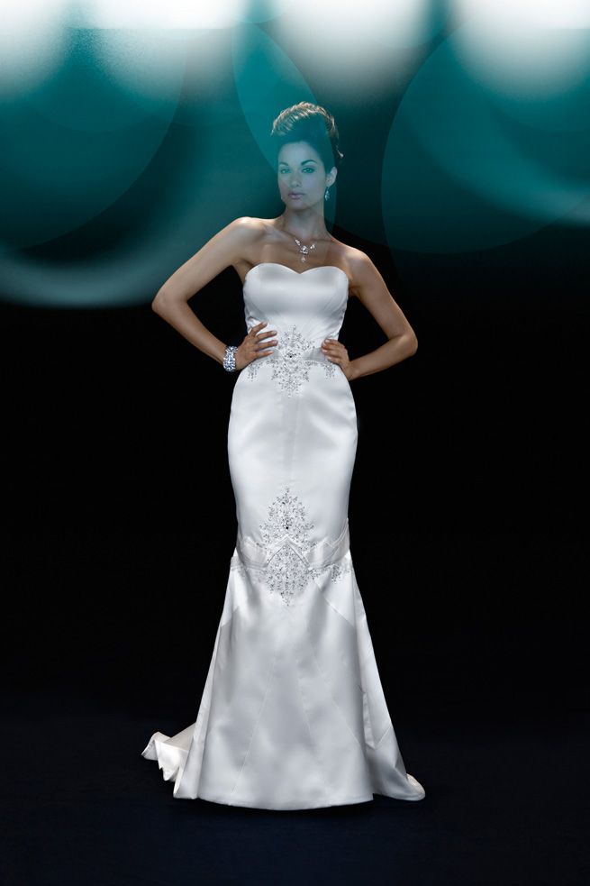 Wedding Dresses, Sweetheart Wedding Dresses, Fashion, Train, Sweetheart, Strapless, Strapless Wedding Dresses, Sash, Princess, Satin, Sashes, Sasha, Sophisticated, Embellished, chapel train, Nordstrom Wedding Suite, matthew christopher, trumpet gown, seamed bodice, crystal embroidery, silk duchess, floral embroidery, satin wedding dresses