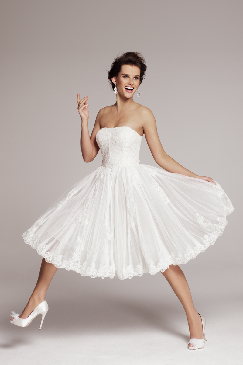 Raul a classic corsetstyle bodice anchors the lusciously for Nordstrom short wedding dresses