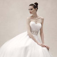 Sweetheart Wedding Dresses, Ball Gown Wedding Dresses, Fashion, white, ivory, Sweetheart, Strapless, Strapless Wedding Dresses, Beading, Floor, Wedding dress, Organza, Oleg cassini, Stain, Ball gown, Beaded Wedding Dresses, organza wedding dresses, Sleveless, Floor Wedding Dresses