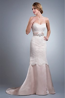 Wedding Dresses, Sweetheart Wedding Dresses, Vintage Wedding Dresses, Fashion, Vintage, Classic, Sweetheart, Strapless, Strapless Wedding Dresses, Timeless, Olia zavozina, lace bodice, removable train, Classic Wedding Dresses, silk charmeuse, embellished belt