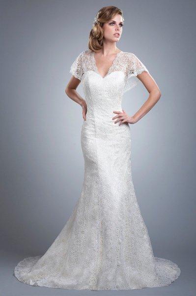 Wedding Dresses, Lace Wedding Dresses, Fashion, Lace, Strapless, Strapless Wedding Dresses, Buttons, Underlay, Olia zavozina, silk charmeuse, lace gown, butterfly sleeves