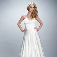 Wedding Dresses, Sweetheart Wedding Dresses, Fashion, Gown, Sweetheart, Strapless, Strapless Wedding Dresses, Silk, Timeless, Olia zavozina, silk charmeuse, v-shaped back, elegant dream, Silk Wedding Dresses