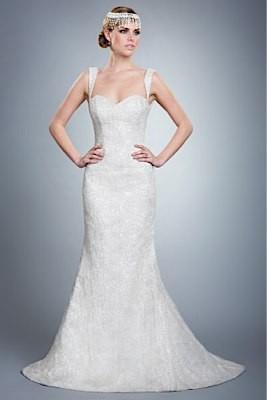 Wedding Dresses, Sweetheart Wedding Dresses, Lace Wedding Dresses, Fashion, Classic, Lace, Sweetheart, Straps, Metallic, Luxury, Olia zavozina, low back, Classic Wedding Dresses, lace gown