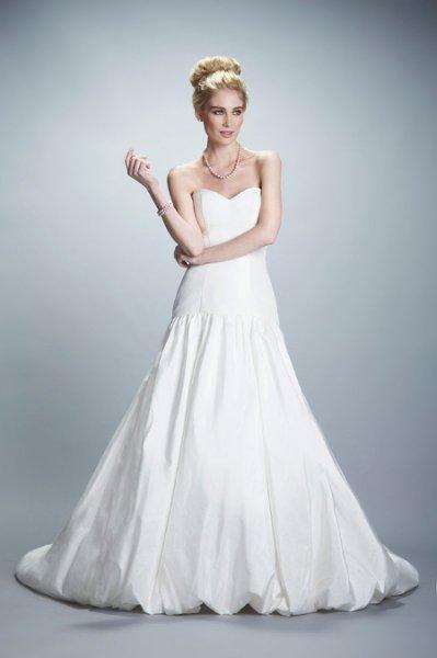 Wedding Dresses, Sweetheart Wedding Dresses, Fashion, Classic, Gown, Sweetheart, Strapless, Strapless Wedding Dresses, Olia zavozina, drop waist, Ball gown skirt, Classic Wedding Dresses, silk taffeta, fitted bodice