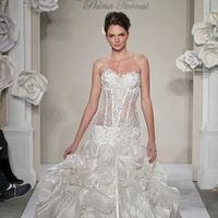 Wedding Dresses, Sweetheart Wedding Dresses, Fashion, Mermaid, Sweetheart, Strapless, Strapless Wedding Dresses, Beading, Corset, Pick-ups, Pnina tornai, chapel train, beaded embroidery, Beaded Wedding Dresses, silk taffeta