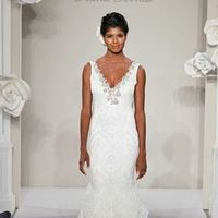 Wedding Dresses, Fashion, Beading, V-neck, V-neck Wedding Dresses, Sheath, Silk, Sleeveless, Pnina tornai, Tank top, sweep train, beaded embroidery, Beaded Wedding Dresses, Sheath Wedding Dresses, Silk Wedding Dresses