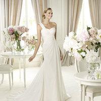 Wedding Dresses, Sweetheart Wedding Dresses, One-Shoulder Wedding Dresses, Fashion, Sweetheart, Pronovias, One-shoulder, cinched waist, Pronovias Fashion, assymetrical neckline