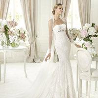Wedding Dresses, Sweetheart Wedding Dresses, Lace Wedding Dresses, Fashion, Mermaid, Lace, Sweetheart, Beading, Pronovias, Beaded Wedding Dresses, tulle jacket, Pronovias Fashion
