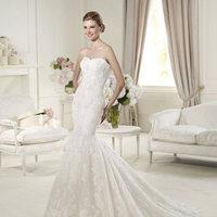 Wedding Dresses, Sweetheart Wedding Dresses, Lace Wedding Dresses, Fashion, Mermaid, Lace, Sweetheart, Strapless, Strapless Wedding Dresses, Pronovias, Pronovias Fashion