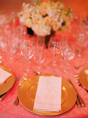 Flowers & Decor, Real Weddings, Wedding Style, gold, Place Settings, Spring Weddings, City Real Weddings, Classic Real Weddings, Spring Real Weddings, City Weddings, Classic Weddings