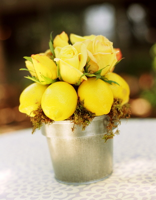 Flowers & Decor, Real Weddings, Wedding Style, yellow, Centerpieces, Rustic Real Weddings, Summer Weddings, West Coast Real Weddings, Summer Real Weddings, Rustic Weddings, Rustic Wedding Flowers & Decor, Summer Wedding Flowers & Decor