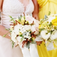 Flowers & Decor, Real Weddings, Wedding Style, white, ivory, yellow, Bride Bouquets, Bridesmaid Bouquets, Rustic Real Weddings, Summer Weddings, West Coast Real Weddings, Summer Real Weddings, Rustic Weddings, Summer Wedding Flowers & Decor
