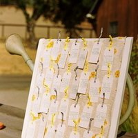 Stationery, Real Weddings, Wedding Style, ivory, yellow, Place Cards, Escort Cards, Rustic Real Weddings, Summer Weddings, West Coast Real Weddings, Summer Real Weddings, Rustic Weddings