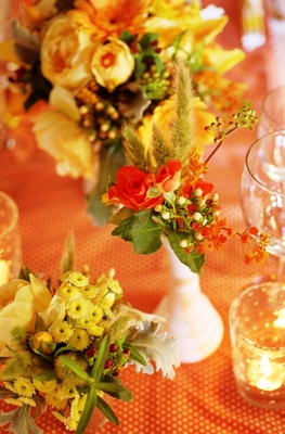 Flowers & Decor, Real Weddings, Wedding Style, orange, red, Centerpieces, Candles, Rustic Real Weddings, Summer Weddings, West Coast Real Weddings, Summer Real Weddings, Rustic Weddings, Rustic Wedding Flowers & Decor, Summer Wedding Flowers & Decor